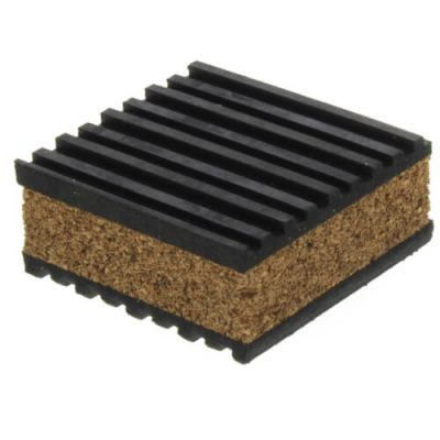 cork and rubber pads